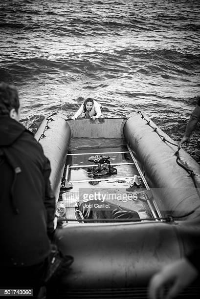 Volunteer Rettungsschwimmer und Flüchtlingspolitik Krise auf Lesbos