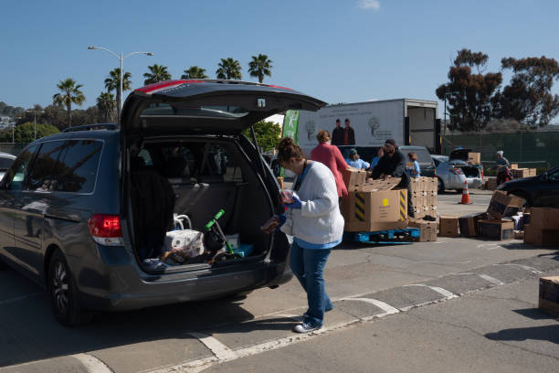 CA: Inside A Food Bank As Operators Struggling To Meet Overwhelming Demand