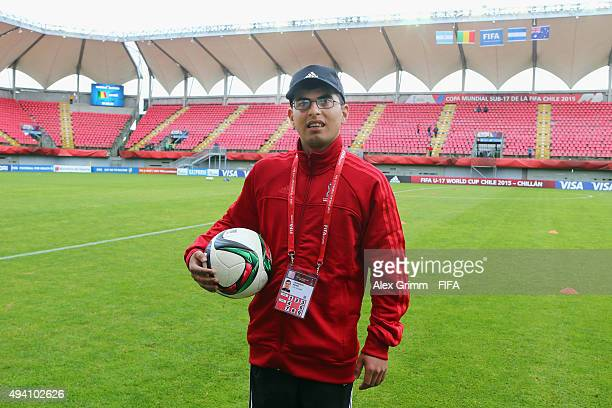 Volunteer Pedro Carrasco during the FIFA U17 World Cup Chile 2015 Group D match between Mali and Honduras at Estadio Nelson Oyarzun Arenas on October...