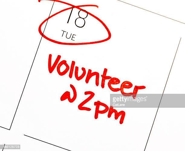 volunteer reminder - tuesday stock photos and pictures