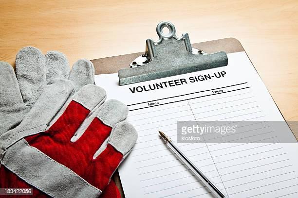 voluntário sign-up - petição - fotografias e filmes do acervo
