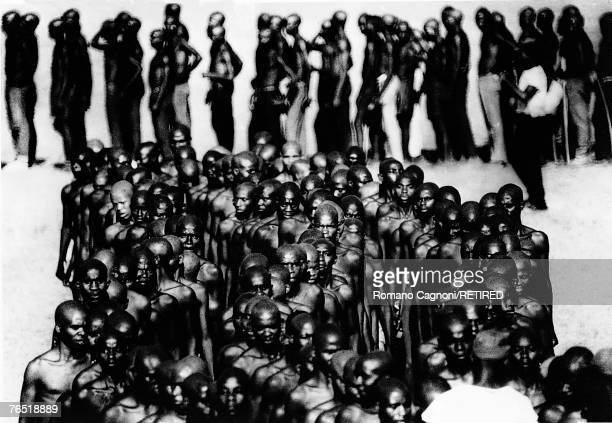 Volunteer soldiers of the Ibo or Igbo people in Biafra a secessionist state in Nigeria 1968