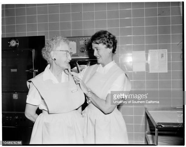Volunteer worker feature 21 January 1960 Mrs Frances L GeorgeElizabeth O'Brien 9 yearsArnold AlboMrs Tholen GarrettSandy Cantrell 10 yearsKaren Lyles...