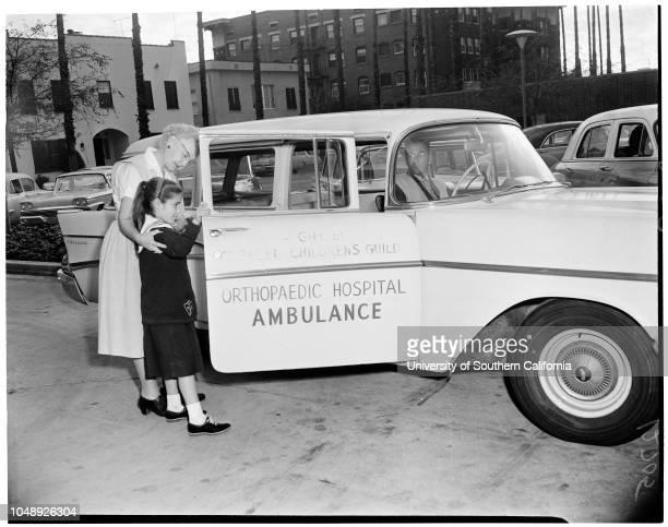 Volunteer worker feature , 21 January 1960. Mrs Frances L George;Elizabeth O'Brien -- 9 years;Arnold Albo;Mrs Tholen Garrett;Sandy Cantrell -- 10...