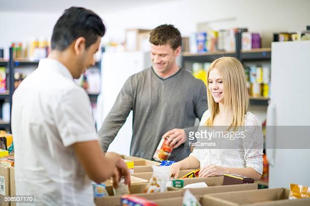 Volunteering at a Food Bank