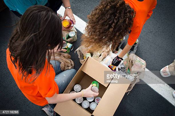 Volunteers at Food Drive