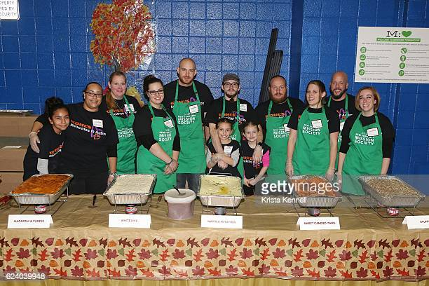 Volunteers attend Jean Shafiroff Jay Moorhead Underwrite Annual Community Thanksgiving Dinner at NYC Mission Society at Minisink Townhouse on...