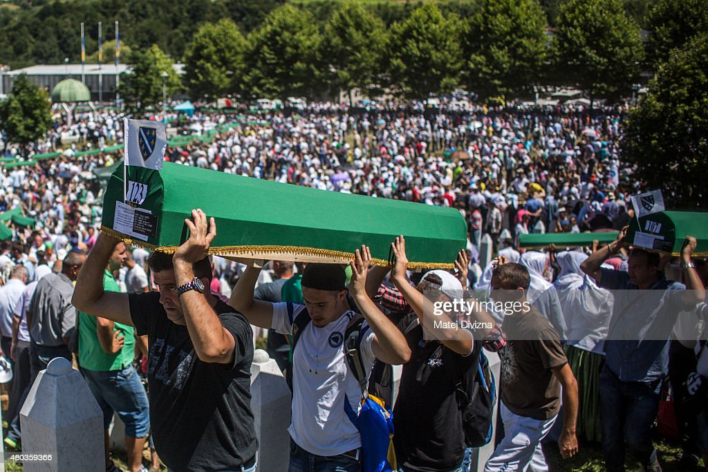 20 Years Since The Srebrenica Massacre More Victims Buried : News Photo