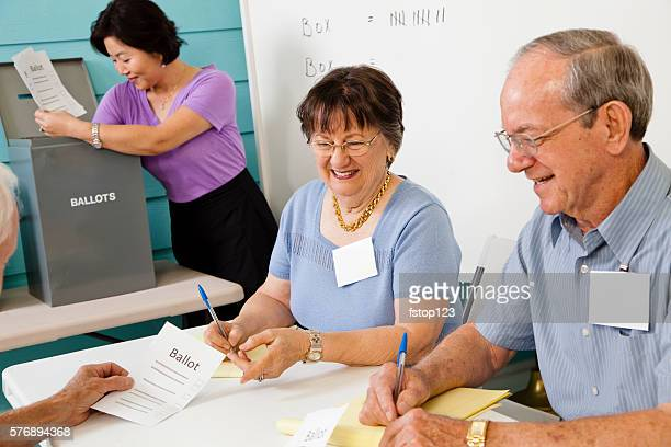 Volunteers counting ballots in the November United States elections.