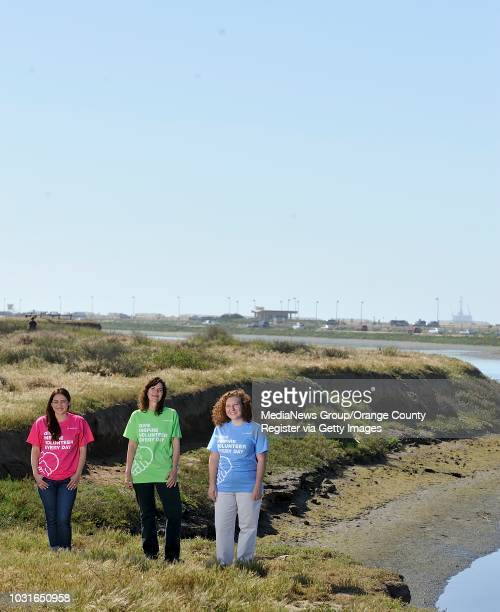 Volunteers from Boeing Vanessa Smith community investor of global corporate citizenship left Teresa Howe director environment health safety center...