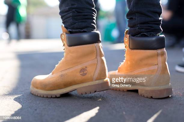 half off 52cd3 6b18e Timberland Boots Premium Pictures, Photos, & Images - Getty ...