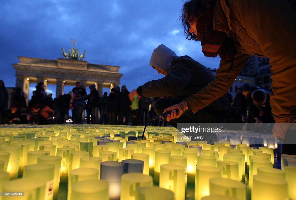 Earth Hour In Berlin : News Photo