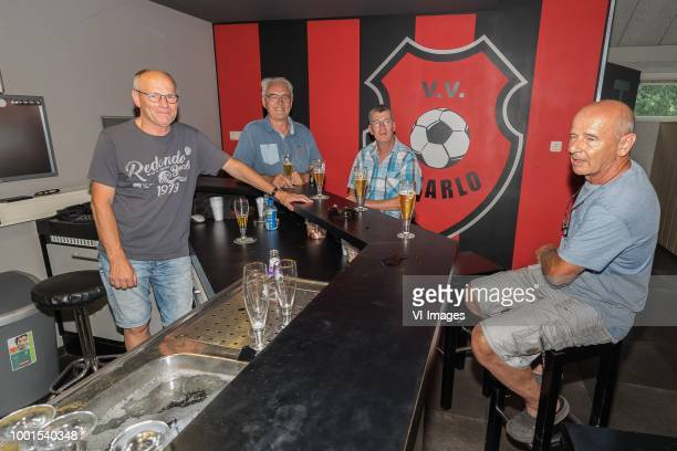 volunteers of vv Baarlo are evaluating the match during the Friendly match between Maccabi Haifa and Rkc Waalwijk at Sportpark de Meeren on July 18...