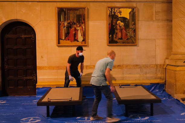 NY: Field Hospital Set Up At Cathedral Of St. John The Divine As City Fights To Contain Coronavirus