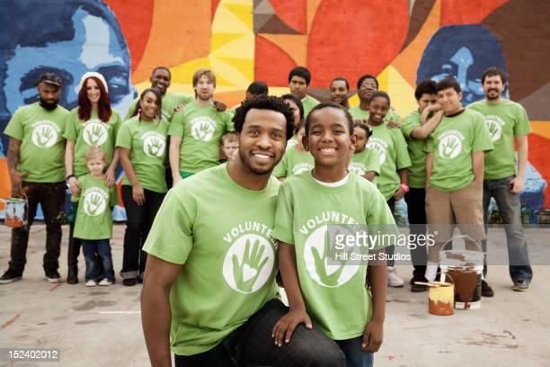Volunteers standing together