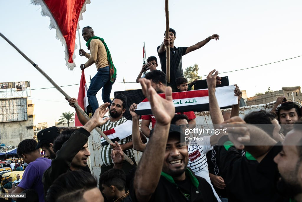 Baghdad Protests Sustained By Support From The Sidelines : News Photo