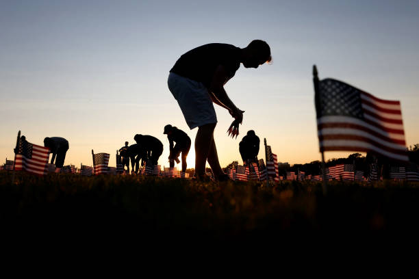 DC: 20,000 American Flags Installed On National Mall To Memorialize 200,000 COVID-19 Deaths