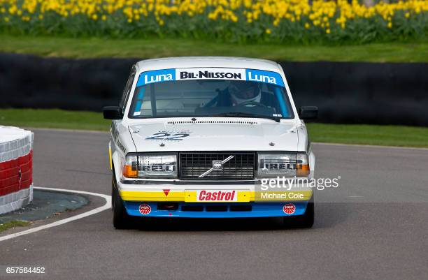 Volvo 240 Turbo in the Group A Touring Cars demo during the 75th Member's Meeting at Goodwood on March 18 2017 in Chichester England