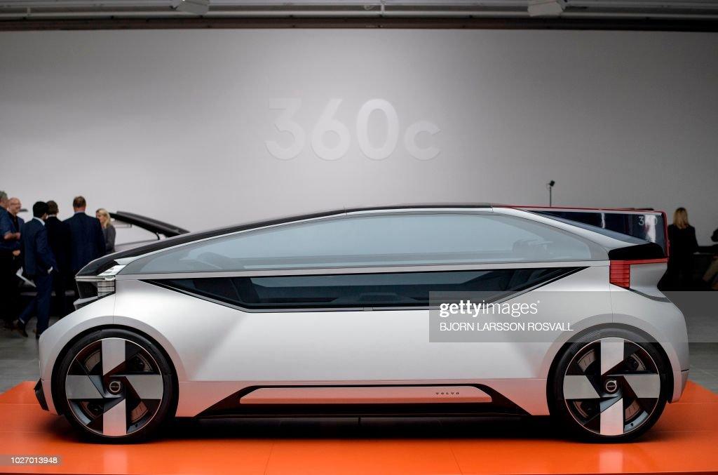 A Volvo 360c autonomous concep...