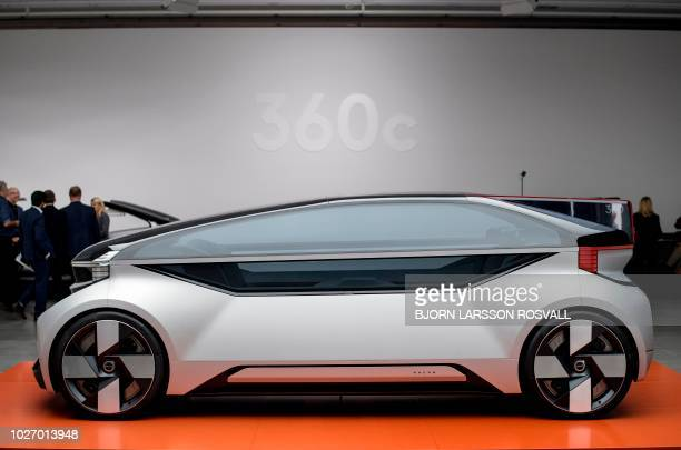 A Volvo 360c autonomous concept car is displayed during the launch event in Gothenburg Sweden on September 5 2018 / Sweden OUT
