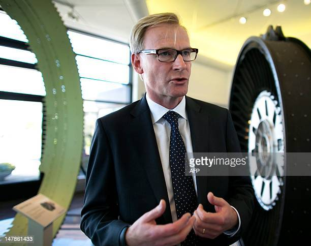 Volvo AB CEO Olof Persson speaks during a press meeting at Volvo Aero in Trollhattan Sweden on July 5 2012 Swedish truckmaker AB Volvo said today it...