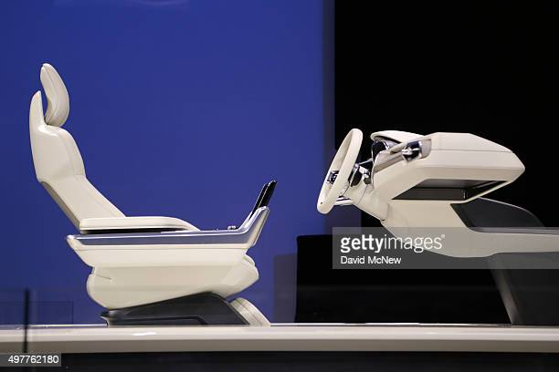 Volvo Concept 26 autonomous vehicle technology is presented at the 2015 Los Angeles Auto Show on November 18 2015 in Los Angeles California The LA...