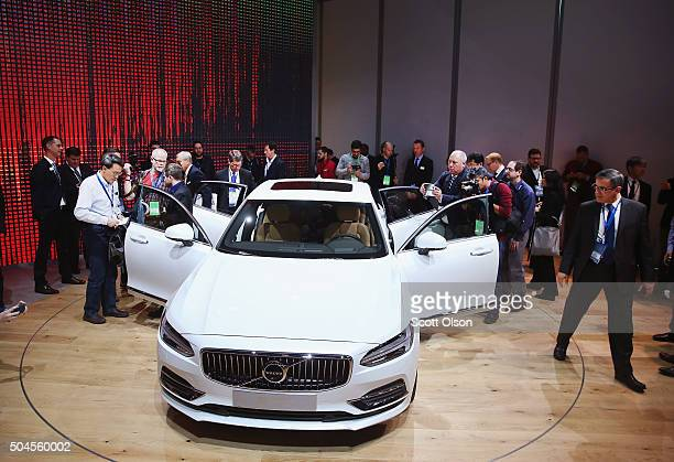 Volvo introduces the S90 at the North American International Auto Show on January 11 2016 in Detroit Michigan The show is open to the public from...