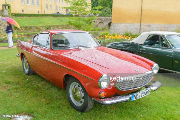 volvo p1800 classic 1968 swedish coupe car - volvo stock pictures, royalty-free photos & images