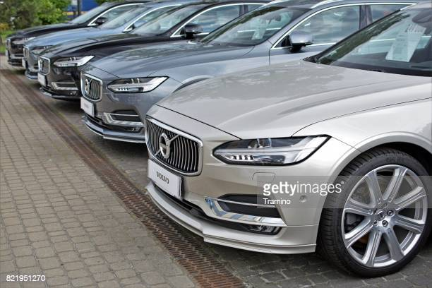 volvo s90 vehicles on the parking - volvo stock pictures, royalty-free photos & images