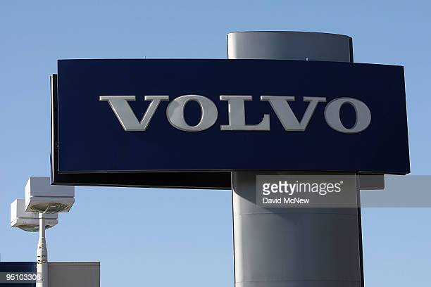 Volvo sign is seen at Rusnak Volvo car dealership on December 23 2009 in Pasadena California Ford Motor Company has announced that it will sell the...