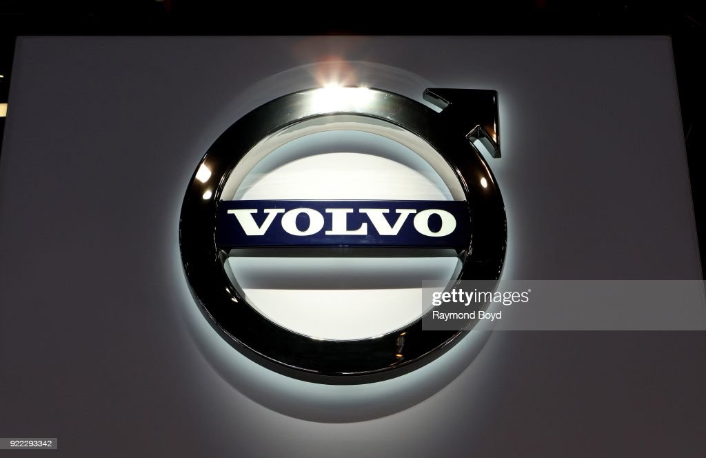 Volvo signage is on display at the 110th Annual Chicago Auto Show at McCormick Place in Chicago, Illinois on February 9, 2018.