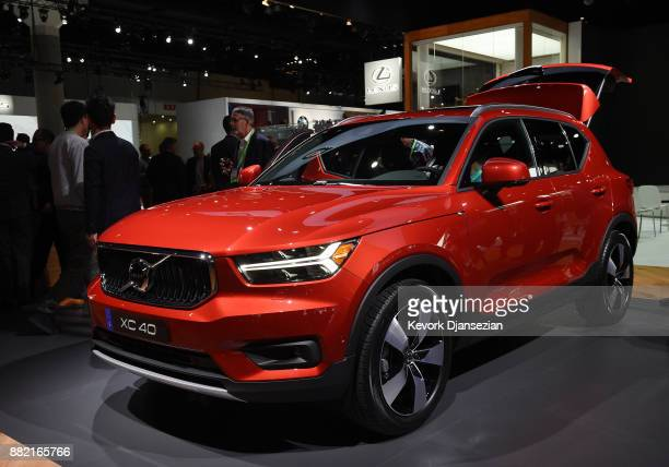 Volvo unveils the XC40 SUV during the auto trade show AutoMobility LA at the Los Angeles Convention Center November 29 in Los Angeles California
