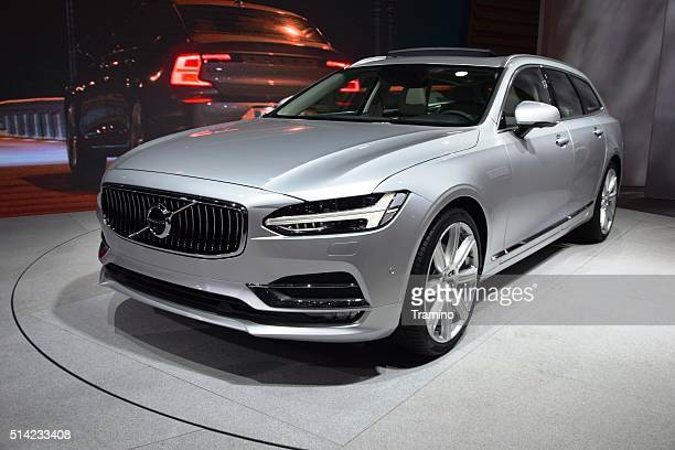 volvo v90 - luxury combi from sweden - volvo stock pictures, royalty-free photos & images