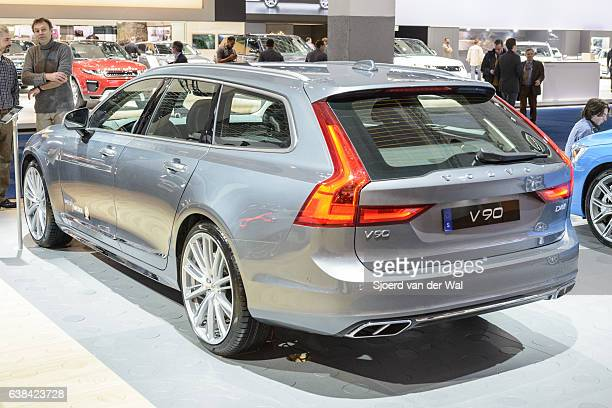 """volvo v90 luxury estate car rear view - """"sjoerd van der wal"""" stock pictures, royalty-free photos & images"""