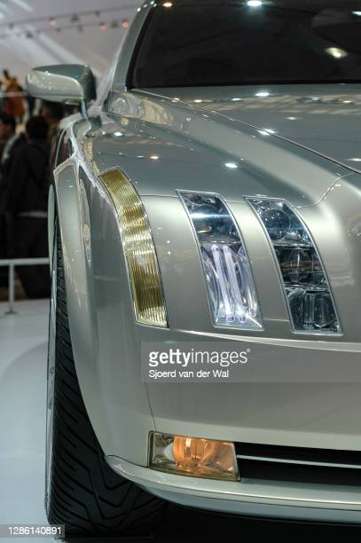Volvo Versatility Concept Car headlight detail on display at Amsterdam motor show AutoRAI on February 19, 2005 in Amsterdam, The Netherlands. The...