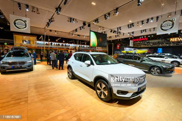 Volvo XC40 crossover SUV car on display at Brussels Expo on January 9, 2020 in Brussels, Belgium. The XC40 is available with petrol and diesel...
