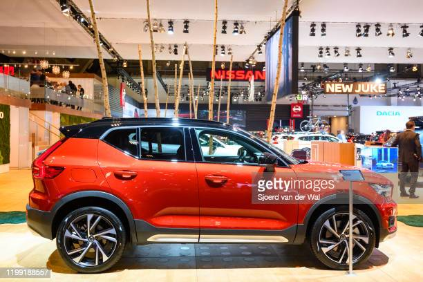 Volvo XC40 crossover SUV car on display at Brussels Expo on January 9 2020 in Brussels Belgium The XC40 is available with petrol and diesel engines...