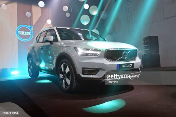 volvo xc40 on the premiere - volvo stock pictures, royalty-free photos & images