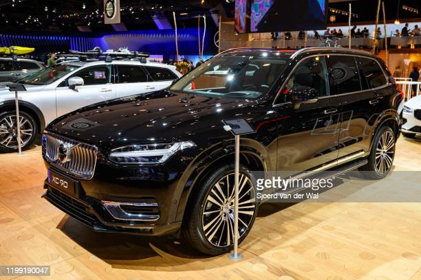 Volvo XC90 crossover SUV car on display at Brussels Expo on January 9 2020 in Brussels Belgium The XC90 is available with petrol and diesel engines...