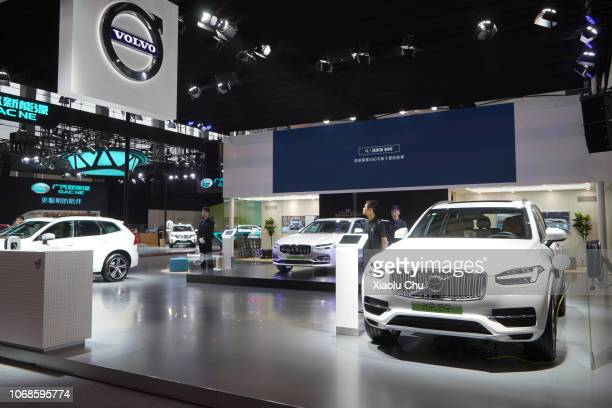 Volvo's New Energy Vehicles are showed at Guangzhou International Automobile Exhibition 2018 on November 16 2018 in Guangzhou China Guangzhou...