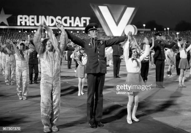 Vom 23. Bis 26. Mai 1980 findet in Karl-Marx-Stadt das V. Festival der Freundschaft zwischen der Jugend der UdSSR und der DDR statt. Hier eine...