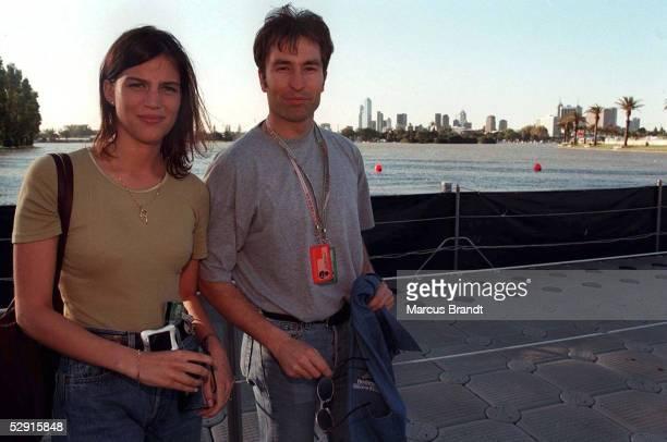 GP von AUSTRALIEN 1997 Melbourne Heinz Harald FRENTZEN seine TANJA Privat