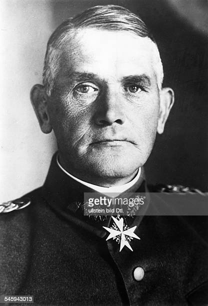 WERNER von BLOMBERG German military officer and Nazi Minister of War Photographed in 1933 wearing the Order of Merit Medal