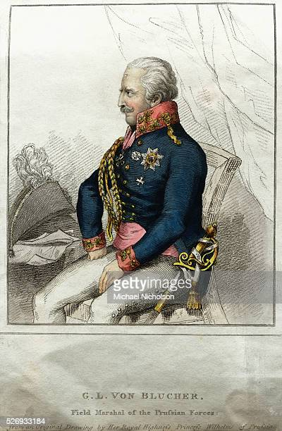 Field Marshal of the Prussian Forces Engraving
