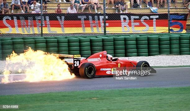 GP von DEUTSCHLAND 1994 Hockenheim SPEZIAL MOTORBRAND Gerhard BERGER/AUT FERRARI