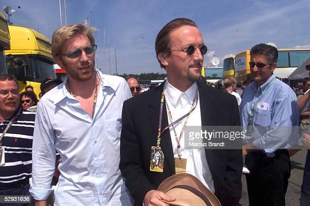 FORMEL 1 GP von DEUTSCHLAND 1999 Hockenheimring 010899 Marius MUELLERWESTERNHAGEN und Boris BECKER