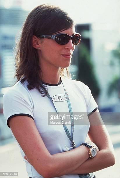 GP von ENGLAND 1997 Silverstone FREUNDIN Tanja von Heinz Harald FRENTZEN/Williams Renault