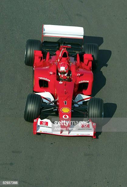 GP von FRANKREICH 2002 Magny Cours FREIES TRAINING Michael SCHUMACHER/GER FERRARI