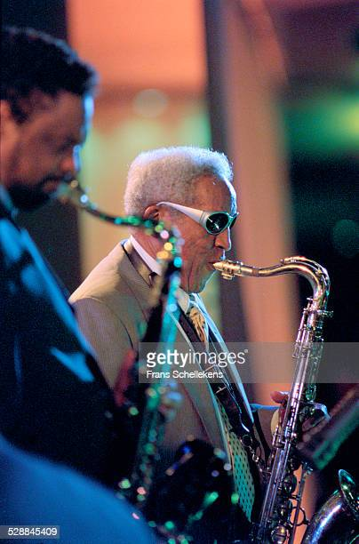 Von Freeman, tenor saxophone, performs with son Chico at the North Sea Jazz Festival on July 14th 2001 in Amsterdam, Netherlands.