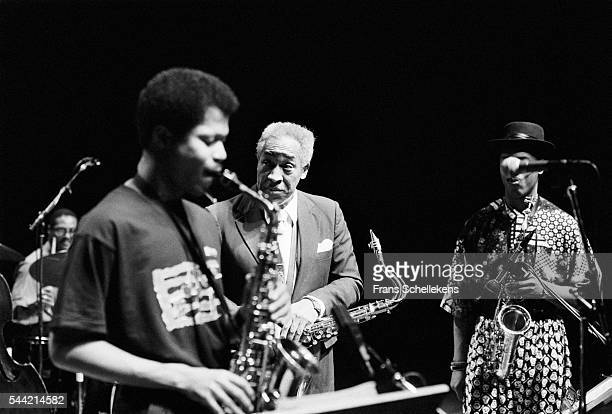 Von Freeman tenor saxophone performs with Steve Coleman Greg Osby at the Jazzmarathon on December 7th 1990 in the Oosterpoort in Groningen the...